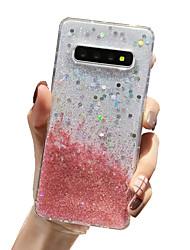 Недорогие -чехол для samsung карта сцены samsung galaxy s20 s20 ultra s20 plus s10 s10 plus новый блеск рисунок капельного клея процесс утолщенной тпу все включено оболочка мобильного телефона