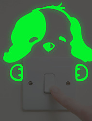 cheap -Cute Dog Light Switch Stickers - Luminous Wall Stickers / Animal Wall Stickers Animals Indoor / Kids Room
