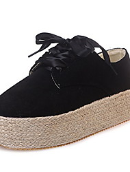 cheap -Women's Flats Creepers Round Toe PU Fall & Winter Black / Yellow / Green
