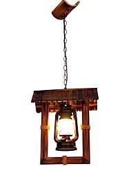 cheap -QIHengZhaoMing Pendant Light Wood / Bamboo Wood / Bamboo Eye Protection 110-120V / 220-240V