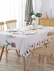 cheap -Table Cloth polyester fibre Classic Geometric Tabel cover Table decorations for Square 90*135 cm Beige 1 pcs