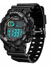 Недорогие -SYNOKE электронные часы Цифровой Спортивные Стильные силиконовый 30 m Защита от влаги Календарь ЖК экран Цифровой На открытом воздухе Мода - Черный Черный / зеленый Зеленый
