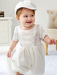Недорогие -малыш Мальчики Классический Однотонный С короткими рукавами Обычный Набор одежды Белый