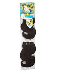 cheap -Wavy Hair Weft with Closure Natural Color Synthetic Hair Braids Braiding Hair