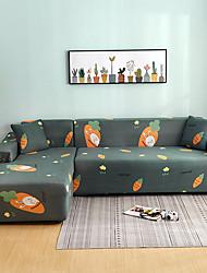 abordables -Housse de canapé tout-puissant anti-poussière de dessin animé imprimé carotte stretch Housse de canapé en forme de L super doux Housse de canapé en tissu super doux avec une taie d'oreiller gratuite