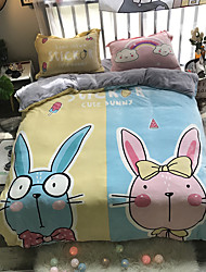 cheap -Cartoon Flannel Duvet Cover Set Queen Bedding Cover Set Boys Girls Duvet Comforter Cover Set Luxury Soft Queen Duvet Cover Set