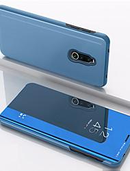 cheap -Case For Xiaomi Xiaomi Redmi Note 5 Pro / Xiaomi Redmi Note 5 / Xiaomi Pocophone F1 Shockproof / Mirror / Flip Full Body Cases Solid Colored PU Leather / Xiaomi Redmi Note 4X