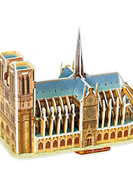 cheap -3D Puzzle Paper Model Famous buildings Notre Dame de Paris Cathedral DIY Hard Card Paper Kid's Unisex Toy Gift