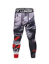 cheap -CODYLUNDIN Men's Running Compression Pants Athletic Base Layer Tights Leggings Sport Fitness Gym Workout Running Breathable Quick Dry Soft Red Burgundy Ink Blue Royal Blue Navy Blue Black / White