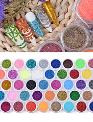 cheap -45 Pcs/Set Sugar Nail Glitter Powder Dust Manicure Art Decoration Acrylic Powder Chrome Pigment for UV Polish DIY Nails Salon