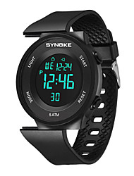 cheap -Couple's Sport Watch Digital Sporty Stylish Stainless Steel Black 50 m Water Resistant / Waterproof Chronograph Alarm Clock Digital Casual Outdoor - Black Black / White White Two Years Battery Life