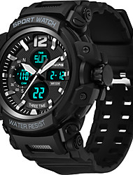 cheap -SYNOKE Digital Watch Digital Sporty Stylish Outdoor Water Resistant / Waterproof Analog - Digital Black Khaki Green / Silicone / Calendar / date / day / LCD / Noctilucent / Large Dial