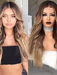 cheap -Synthetic Wig Wavy Body Wave Hathaway Middle Part Wig Ombre Long Black / Brown Synthetic Hair 26inch Women's Odor Free Heat Resistant Synthetic Ombre / Natural Hairline / Natural Hairline