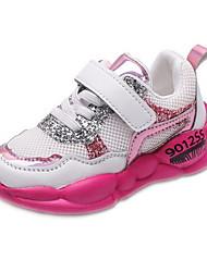 Недорогие -Девочки Удобная обувь Сетка Спортивная обувь Маленькие дети (4-7 лет) Беговая обувь Белый / Розовый Осень