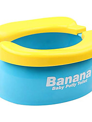 cheap -Lovely Portable Convenient Banana Shape Foldable Toilet Kids Toilet Potty for Travel Babies Toddlers Children Home
