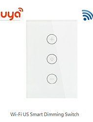 cheap -Tuya Smart Switch / wifi / U.S. Regulations / touch dimming / smart switch / mobile remote control /100-240 VDS120-03CMW for Living Room