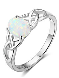 cheap -Women's Ring Opal 1pc Silver Platinum Plated Alloy Stylish Daily Jewelry Cute