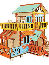abordables -CUTE ROOM Puzzles 3D Kit de Maquette Maquettes de Bois A Faire Soi-Même Bâtiment Célèbre Maison Plastique En bois Classique Enfant Adulte Unisexe Garçon Fille Jouet Cadeau