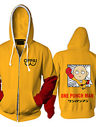 cheap -Inspired by ONE PUNCH-MAN Cosplay Cosplay Costume Hoodie Polyster Print Printing Hoodie For Men's / Women's