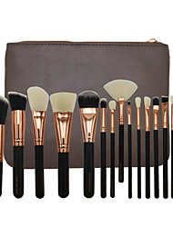 cheap -Miyaup Professional Makeup Brushes 15pcs Soft Synthetic Lovely Comfy Wooden / Bamboo for Concealer & Base Powders Foundation Blush Brush Makeup Brush Lip Brush Eyeshadow Brush