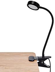 Недорогие -Brelong светодиодный зажим для клипов настольная лампа для чтения заполняющего света 3-го уровня с диммированием usb powered 1 шт