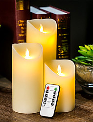 cheap -Flameless Wedding Decorative Candles Battery Operated Pillar Real Wax Wick Electric LED Candle Gift Sets with Remote Control