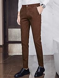 cheap -Men's Street chic Chinos Pants - Solid Colored Black Camel Navy Blue US32 / UK32 / EU40 US34 / UK34 / EU42 US36 / UK36 / EU44