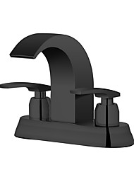 cheap -Bathroom Sink Faucet - Waterfall Painted Finishes Widespread Two Handles Two HolesBath Taps