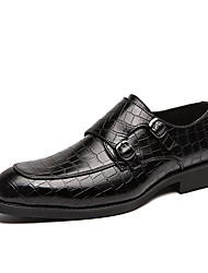 cheap -Men's Dress Shoes Microfiber Spring & Summer / Fall & Winter Casual / British Loafers & Slip-Ons Breathable Booties / Ankle Boots Black / Dark Brown / Yellow / Party & Evening