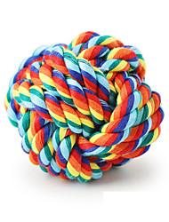 Недорогие -Инвентарь Жевательные игрушки Веревки Животные Животные Игрушки более 5 панелей Веревка Плетеные Веревка Многофункциональные Шнур Подарок
