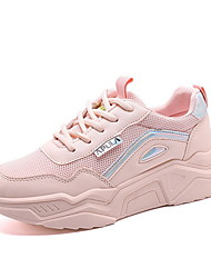 cheap -Women's Athletic Shoes Flat Heel Round Toe Mesh Running Shoes Fall & Winter White / Pink / Beige