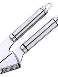 cheap -Poplar Stainless Steel Garlic Press Kitchen Tool, Food Grade Good Grips 18/10 Mincer Ginger Press