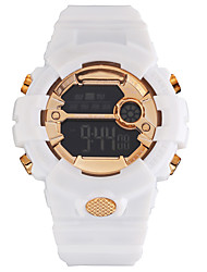 cheap -Couple's Sport Watch Digital Black / White / Grey 30 m Water Resistant / Waterproof Calendar / date / day Chronograph Digital Outdoor New Arrival - Black Golden+White White / Blue One Year Battery