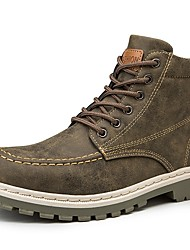 cheap -Men's Combat Boots PU Fall & Winter Boots Booties / Ankle Boots Black / Brown / Gray