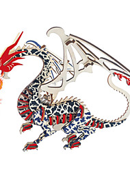 cheap -3D Puzzle Wooden Puzzle Dragon & Dinosaur Toy Wooden Kid's Adults' Unisex Boys' Girls' Toy Gift