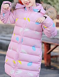 cheap -Kids Girls' Basic Geometric Down & Cotton Padded Black