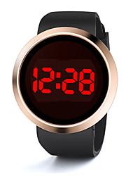 Недорогие -Муж. и жен. Спортивные часы Кварцевый силиконовый Черный / Белый Календарь Секундомер Новый дизайн Цифровой На открытом воздухе Новое поступление - Черный Белый Один год Срок службы батареи