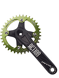 Недорогие -Кривошипные Шоссейный велосипед / Горный велосипед / Складной велосипед Легкость / Пригодно для носки / Прочный Алюминий 6061 Черный