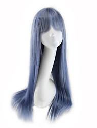 cheap -Synthetic Wig Curly Asymmetrical Wig Long Silver Purple Synthetic Hair 27 inch Women's Best Quality Blue