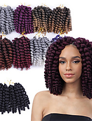 cheap -Curly Wavy Costume Accessories Crafts Crochet Hair Braids Natural 100% kanekalon hair Braids Braiding Hair 6pcs / pack