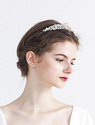 cheap -Pearl / Crystal / Rhinestone Tiaras with Pearl / Sparkling Glitter / Glitter 1pc Wedding / Birthday Headpiece