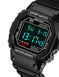 cheap -Couple's Sport Watch Digital Stylish Casual Water Resistant / Waterproof Digital Black / Blue black / gold Black / Two Years / Stainless Steel / Chronograph / Noctilucent / Two Years