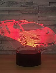 Недорогие -Светодиодный светильник / для дома на колесах / светлый USB креативный акрил / настольная лампа с сенсорным экраном / 3d красочный подарок на ночь