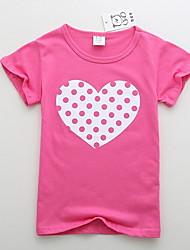 Недорогие -малыш Девочки Классический Геометрический принт С короткими рукавами Футболка Пурпурный