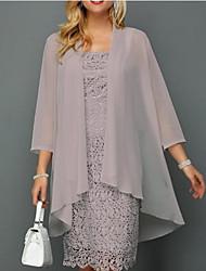 cheap -3/4 Length Sleeve Coats / Jackets Chiffon Wedding Women's Wrap With Ruching