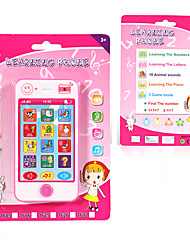 cheap -HS-1602- Toy Phone Educational Toy Learning Pad Y-phone Touch Screen Rechargeable Cool Simulation Parent-Child Interaction Music & Light with Screen Kid's Child's All 1 pcs Toy Gift