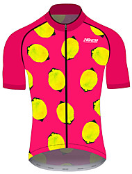 Недорогие -21Grams Жен. С короткими рукавами Велокофты Красный / желтый Фрукты Лимонный Велоспорт Джерси Верхняя часть Горные велосипеды Шоссейные велосипеды Устойчивость к УФ Дышащий Быстровысыхающий