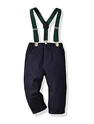 cheap -Kids Toddler Boys' Basic Street chic Solid Colored Overall & Jumpsuit Royal Blue