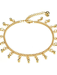 cheap -Women's Body Jewelry 20.5+5 cm Leg Chain Gold Stylish Gold Plated Costume Jewelry For Gift / Daily Wear Summer