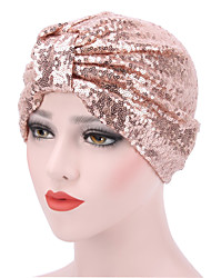 cheap -Women's Turban Party Active Cute Nylon Knitwear Floppy Hat-Solid Colored All Seasons Black Blushing Pink Gold